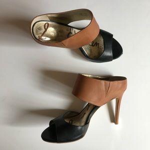 Sam Edelman Black and Tan heels size 6.5